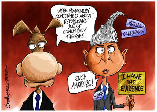 adam schiff tinfoil hat republican conspiracy theories