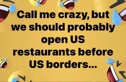 call me crazy open restaurants before us borders