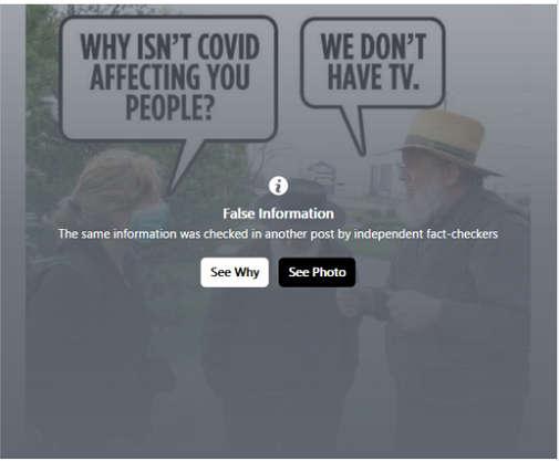 covid amish facebook false information