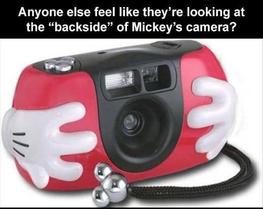 disney camera anyone else see mickey mouse backside