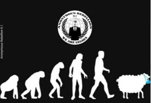 evolution of man ape to human to sheep