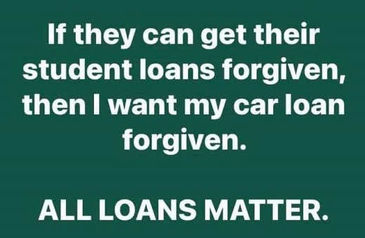 if student loan forgiven car all loans matter