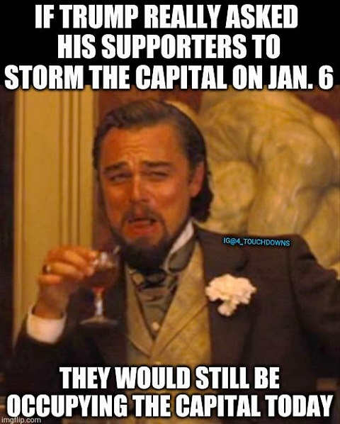 if trump asked supporters to storm capital would still occupying