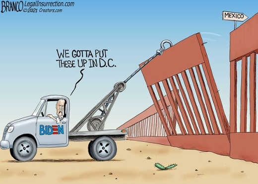 joe biden tearing down mexican wall we have to put these up in dc