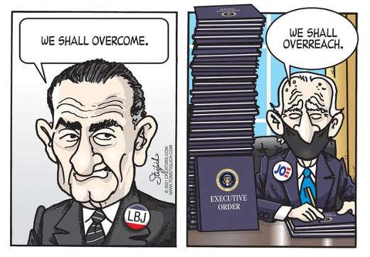lbj we shall overcome joe biden we shall overreach executive orders