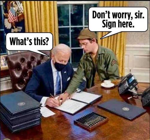 mash radar joe biden what am i signing dont worry