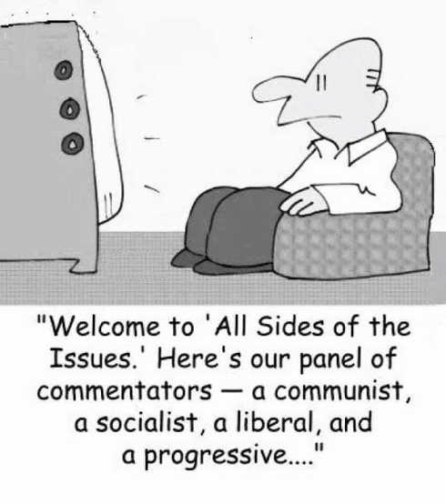 media all sides of issues communist socialist liberal progressive