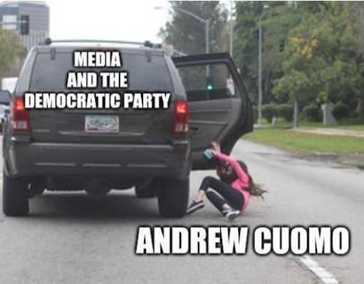 media democratic party throwing andrew cuomo out of car