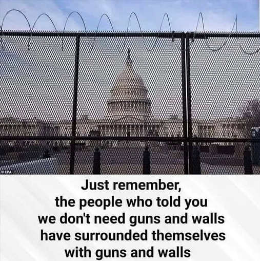 message just remember people who told you dont need guns wall surrounded by them