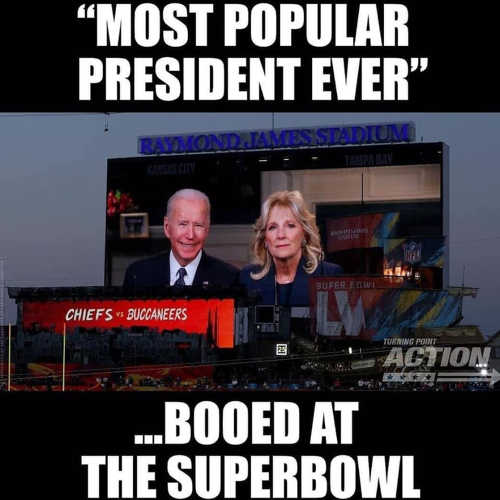 most popular president ever booed at superbowl joe biden