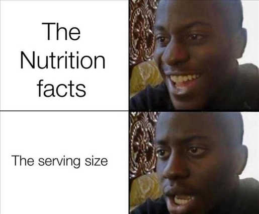 nutrition facts serviing size