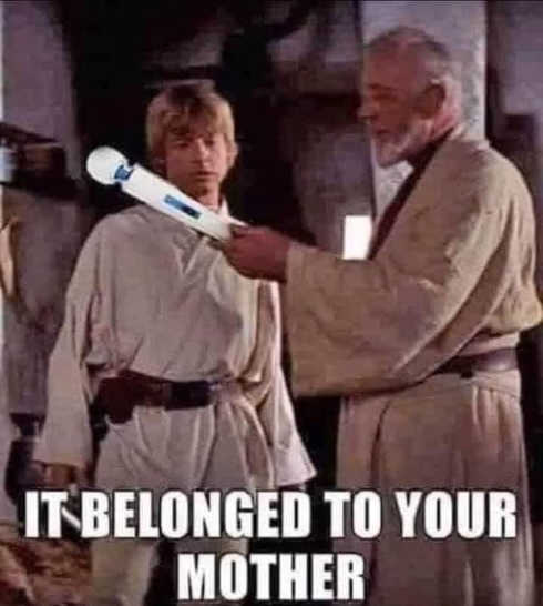 obiwan luke massager it belonged to your mother