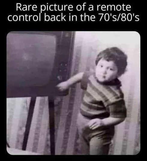 rare remote control picture 70s 80s kid tv
