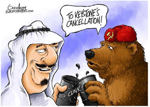 to keystone cancellation saudi arabia russia toast