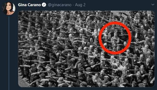 tweet gina carano nazis one resister