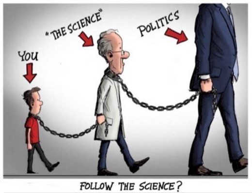you chained to science chained to politics masks