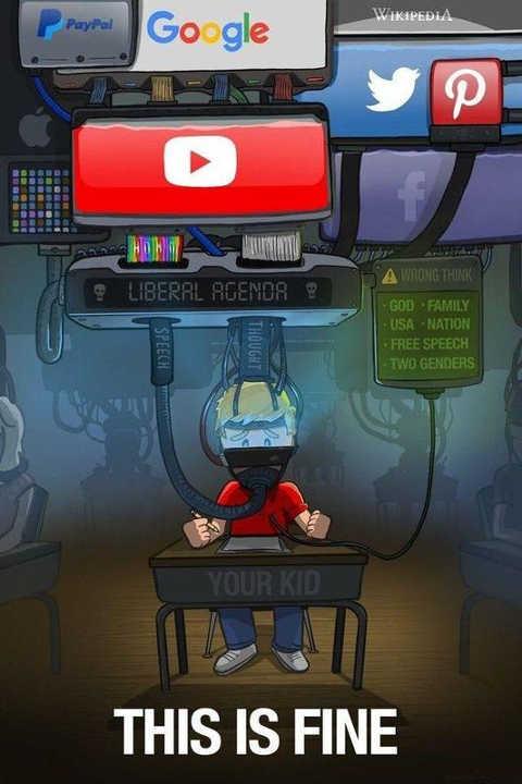 youtube facebook google twitter paypal kid student liberal agenda