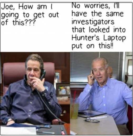 andrew cuomo how get out of joe biden same investigators hunters laptop