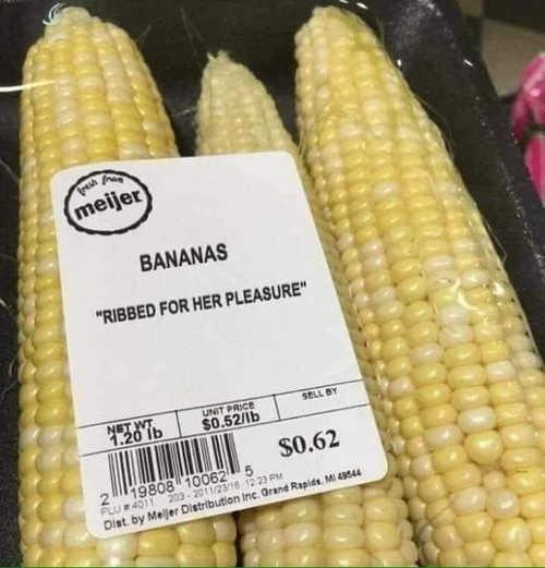 corn ribbed for her pleasure bananas