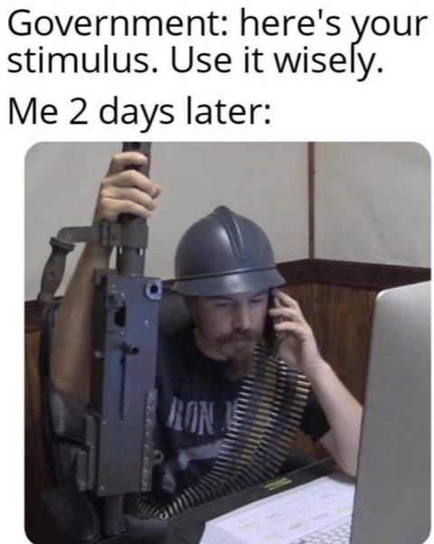 government use stimulus wisely minigun