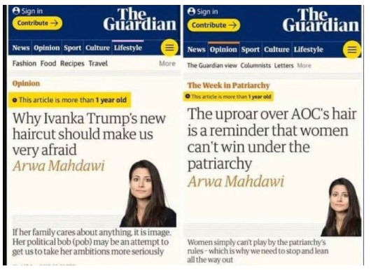 guardian arwa mahdawi aoc vs ivankas hair