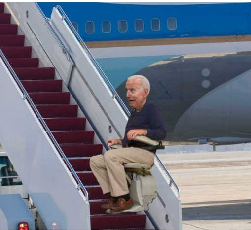 joe biden air force one stair machine
