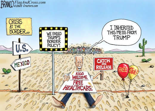 joe biden inherited this mess trump border free health care catch release