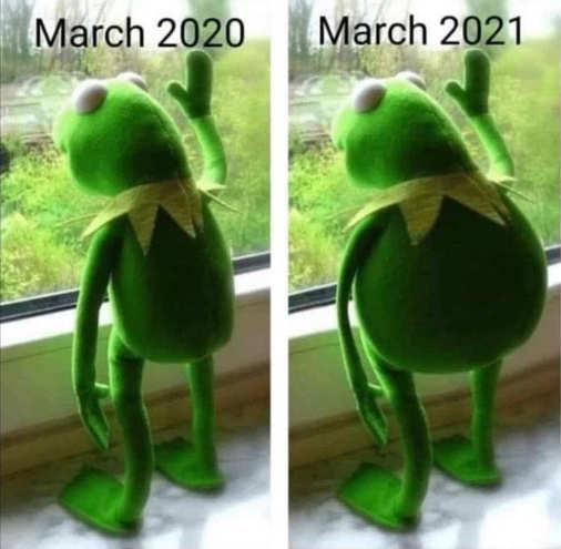 kermit march 2020 2021 lockdown