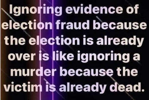 message ignoring evidence election fraud murder already dead