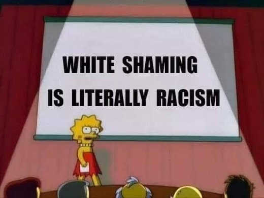 message lisa simpson white shaming is literally racism