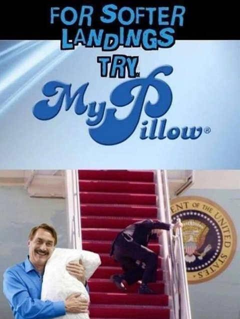 my pillow softer landings joe biden stairs