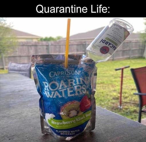 quarantine life capri sun bicardi rum