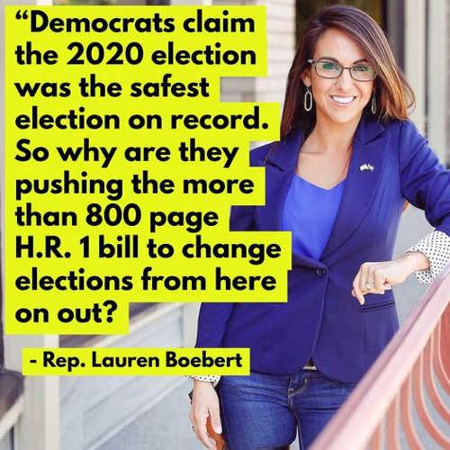quote 2020 election safest 800 page hr1 bill lauren boebert