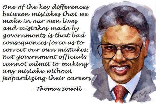 quote thomas sowell mistakes government cant admit