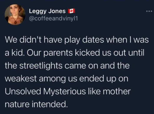 tweet leggy jones didnt have playdates parents kicked out unsolved mysteries