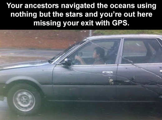 ancestors navigated using stars you missing exit with gps