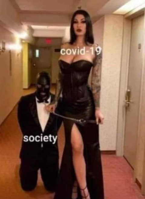 covid 19 slave master society