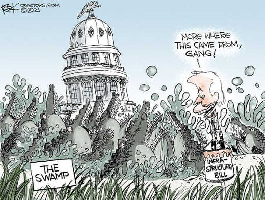 dc swamp joe biden infrastructure bill more where that came from