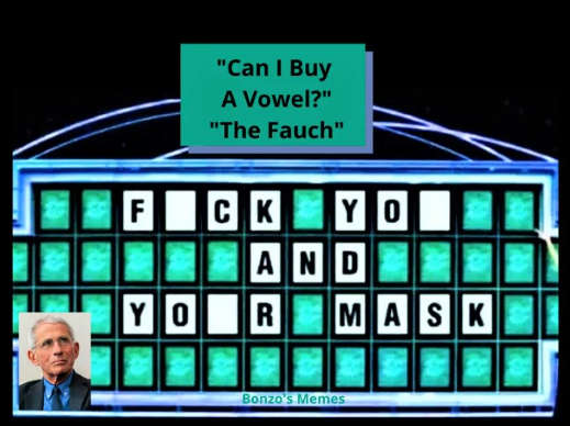dr fauci fuck you and your mask wheel of fortune