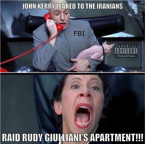 fbi johnkerry leak iranians raid rufy guliani