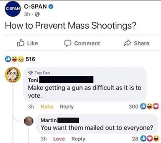 how to prevent mass shootings make as difficult mail in voting