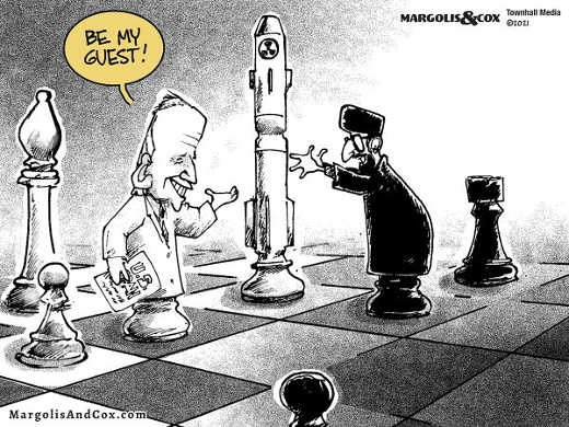 joe biden chess piece nuclear bomb iran be my guest