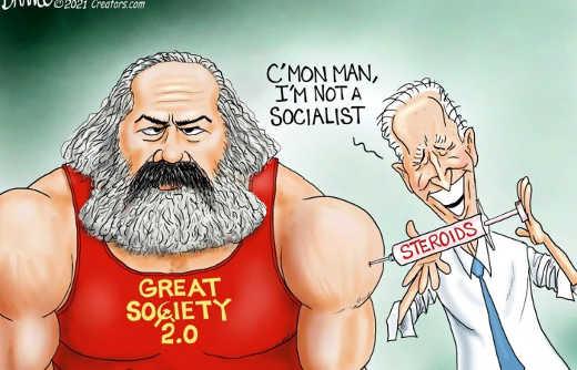 joe biden not socialist karl marx steroids great society
