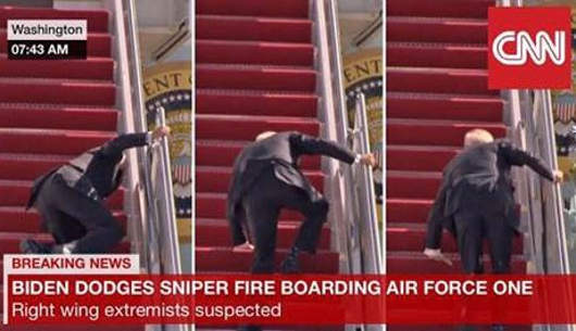 joe biden stairs air force one right wing extremist sniper