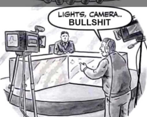 mainstream media lights camera bullshit