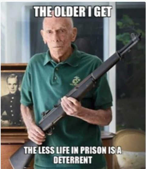 message older i get less life in prison is a deterrent