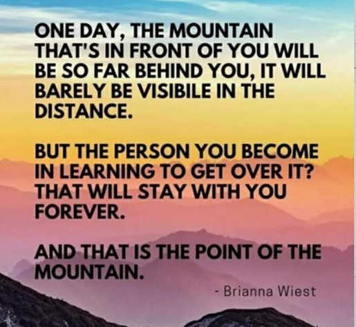 quote briana wiest mountain in front of you