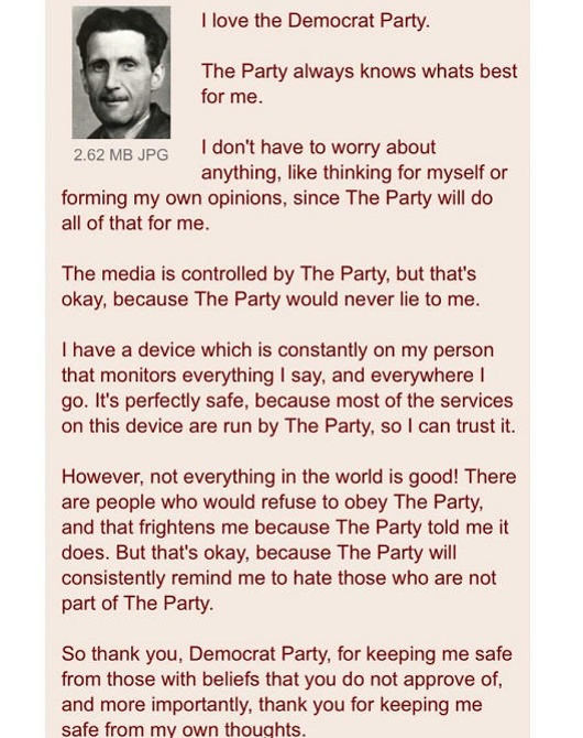 quotes george orwell 1984 obey the party democrat