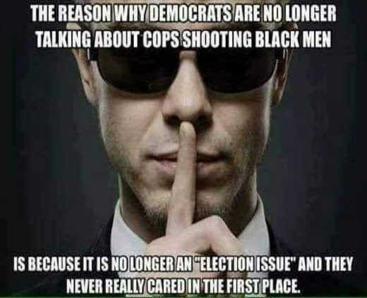 reason democrats cops shooting black men no longer election issue