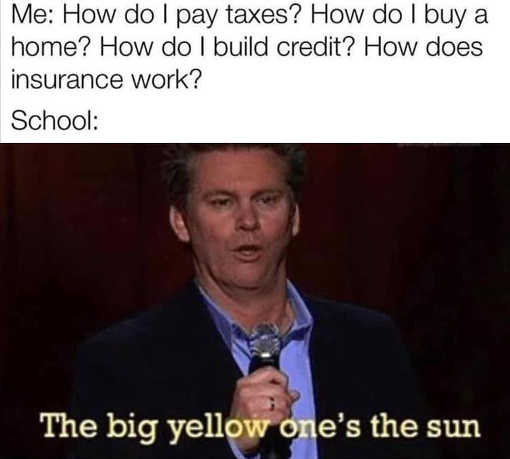 schools pay taxes buy home credit insurance yellow one is the sun